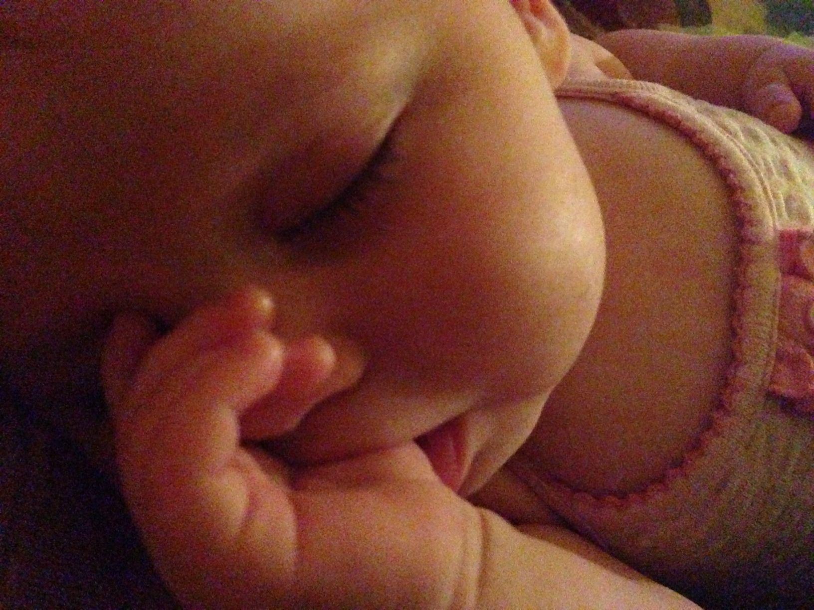 Baby sucking its thumb