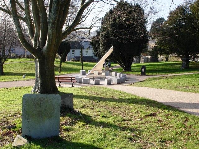 Sundial sculpture, Park, St Austell - geograph.org.uk - 1131638