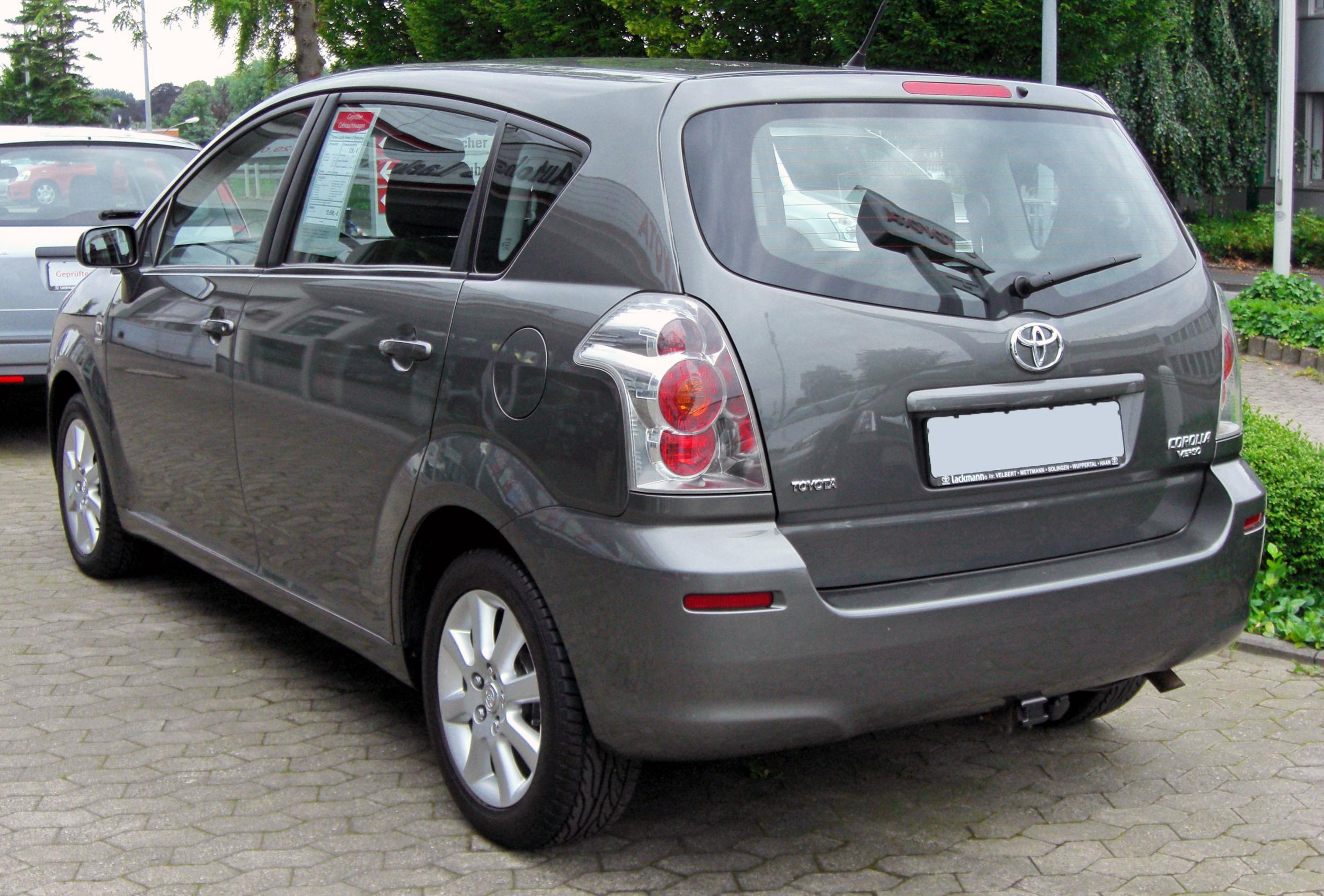 file toyota corolla verso ii 20090620 rear jpg wikimedia. Black Bedroom Furniture Sets. Home Design Ideas