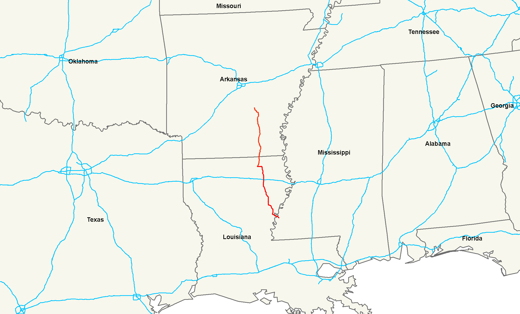 I69 Arkansas Map.U S Route 425 Wikipedia