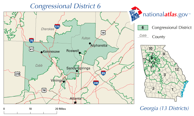 FileUnited States House Of Representatives Georgia District - Us map of georgia