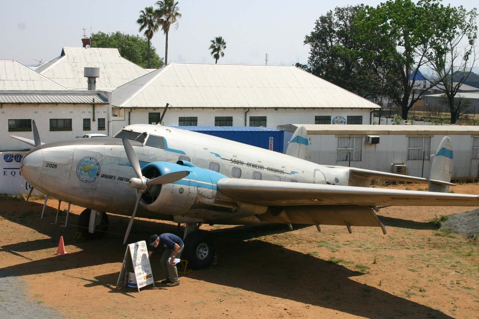 File:ZS-ASN Lockheed 18 Lodestar South African Airways