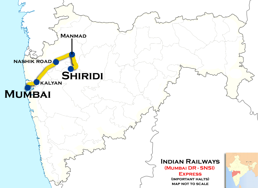Road Map of how to reach Shirdi