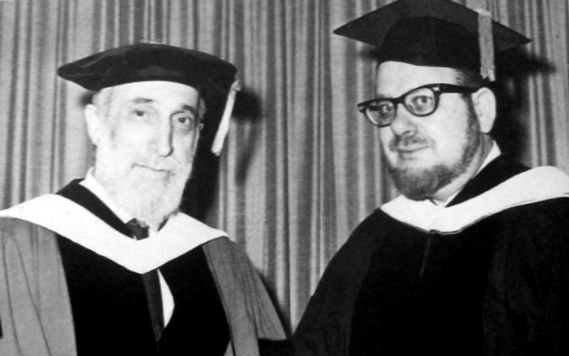 Louis Finkelstein (left) with [[Pinchas Hacohen Peli