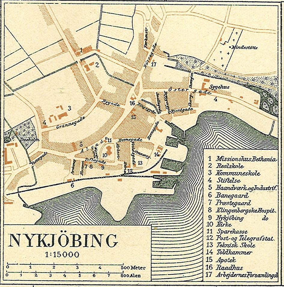 Nykøbing F. biograf kort over christiansborg
