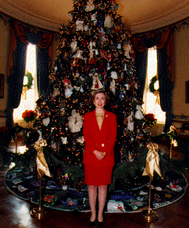 File:1993 Blue Room Christmas tree - Hillary Clinton.png ...