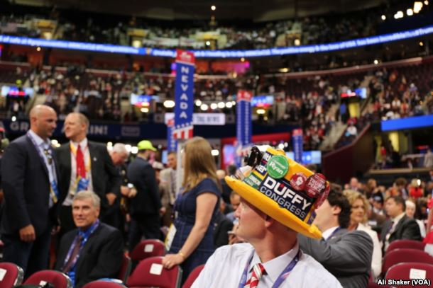 2016 Republican National Convention, Day 4. Photo by Voice of America, public domain