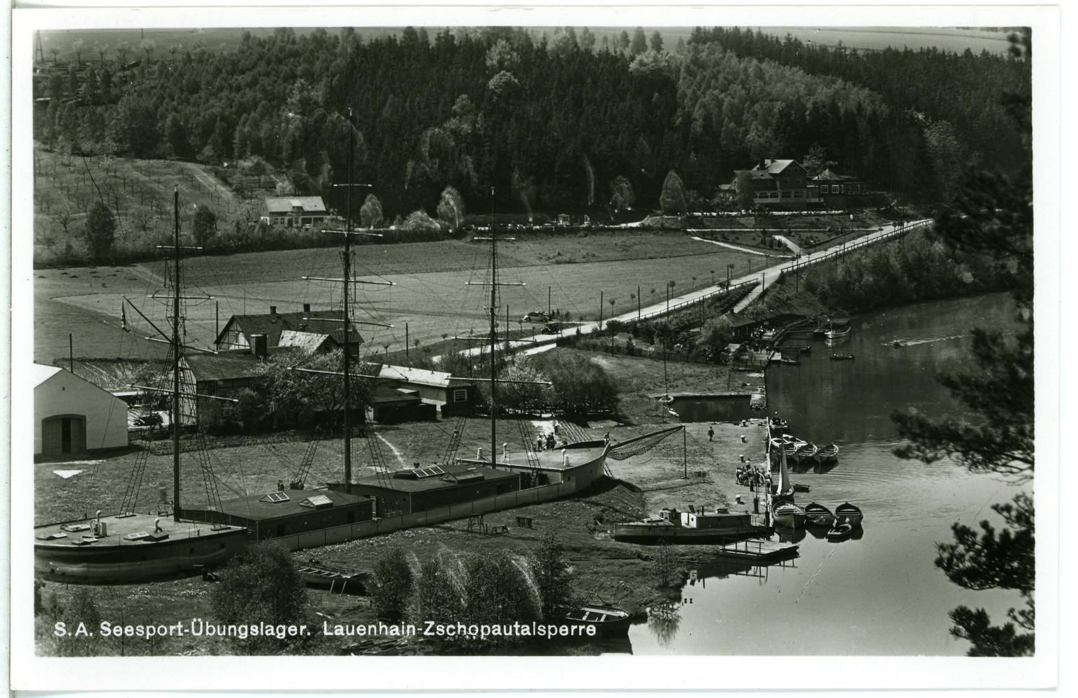 File:27255-Lauenhain-1938-Zschopau-Talsperre - Seesport Übungslager-Brück