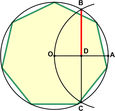 how to draw a heptagon with a protractor