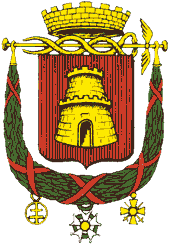 The coat of arms of Caen