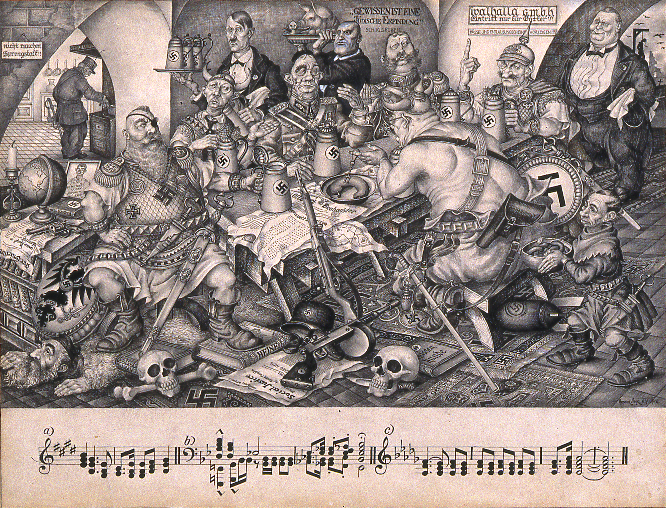 Arthur Szyk The Nibelungen Series C Valhalla C New York