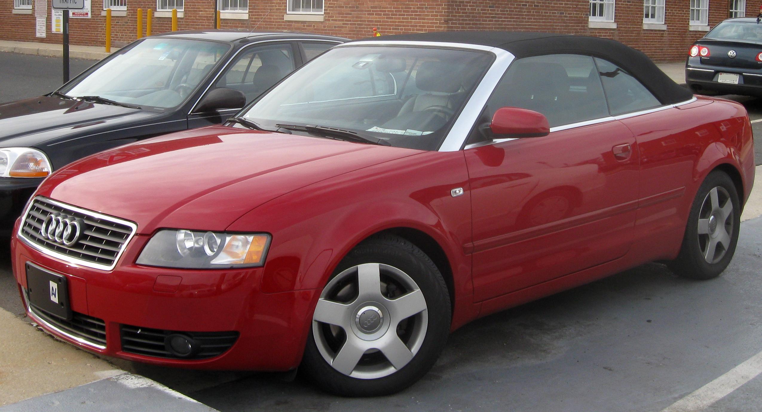 FileAudi A T Convertiblejpg Wikimedia Commons - Audi a4 convertible