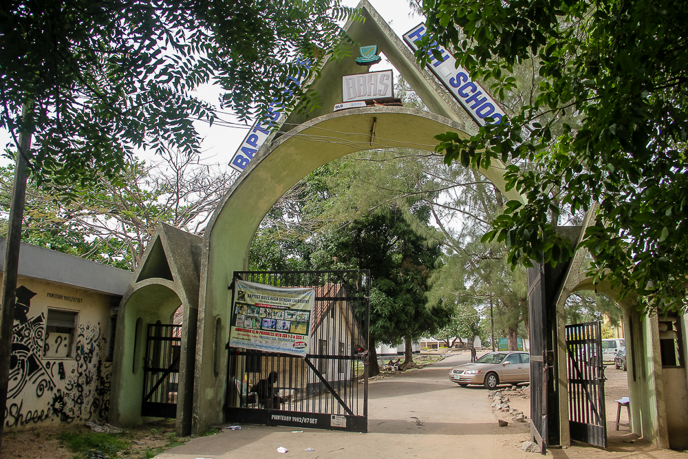 Baptist Boys High School, main gate, Oke saje, Abeokuta, Ogun state.jpg
