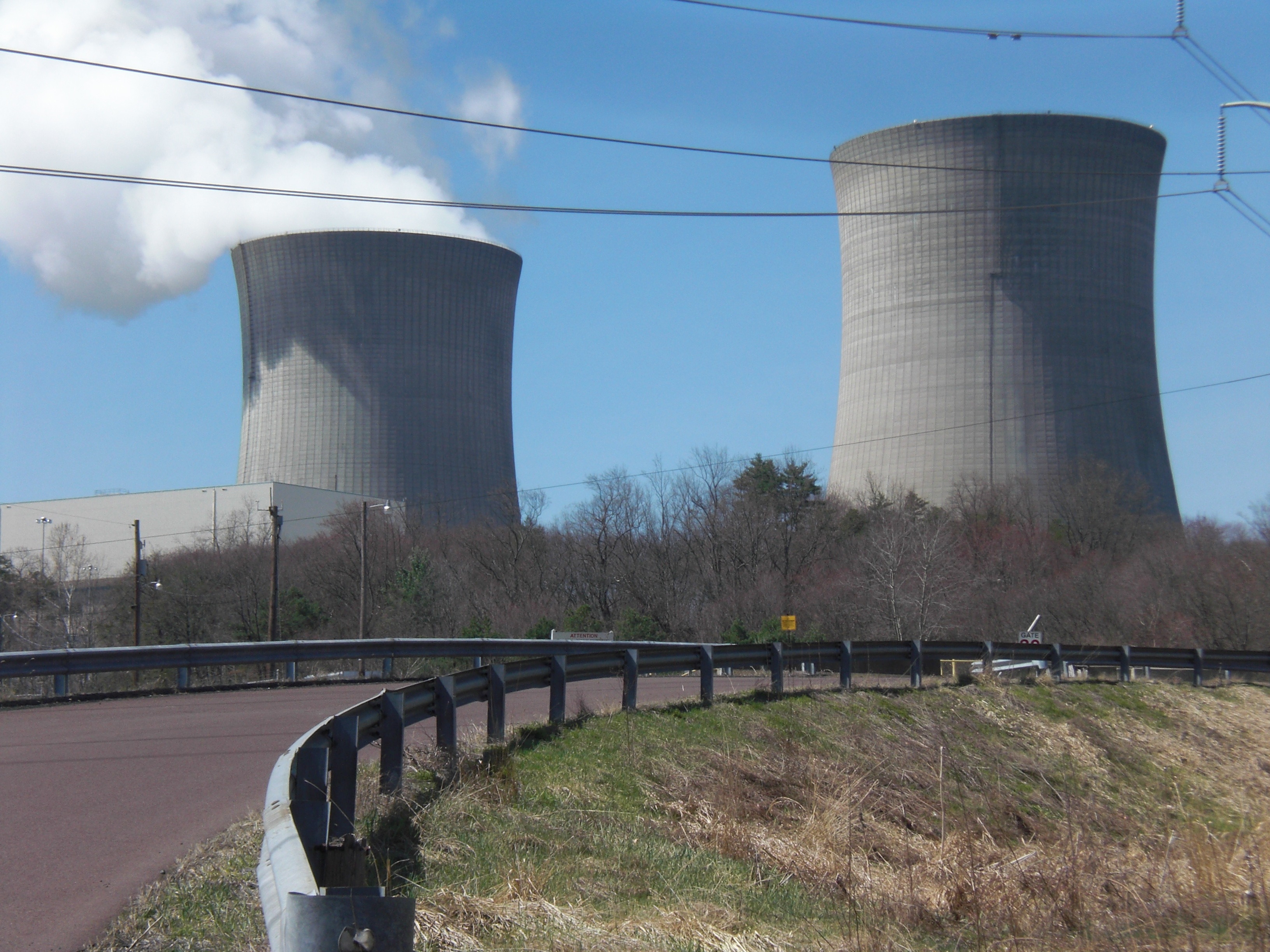 File Bell Bend Nuclear Power Plant cooling towers from the east
