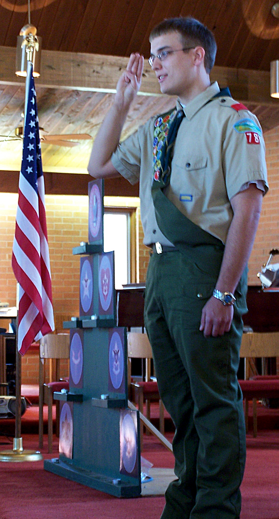 Description Boy Scouts of America Eagle Scout Court of Honor.jpg