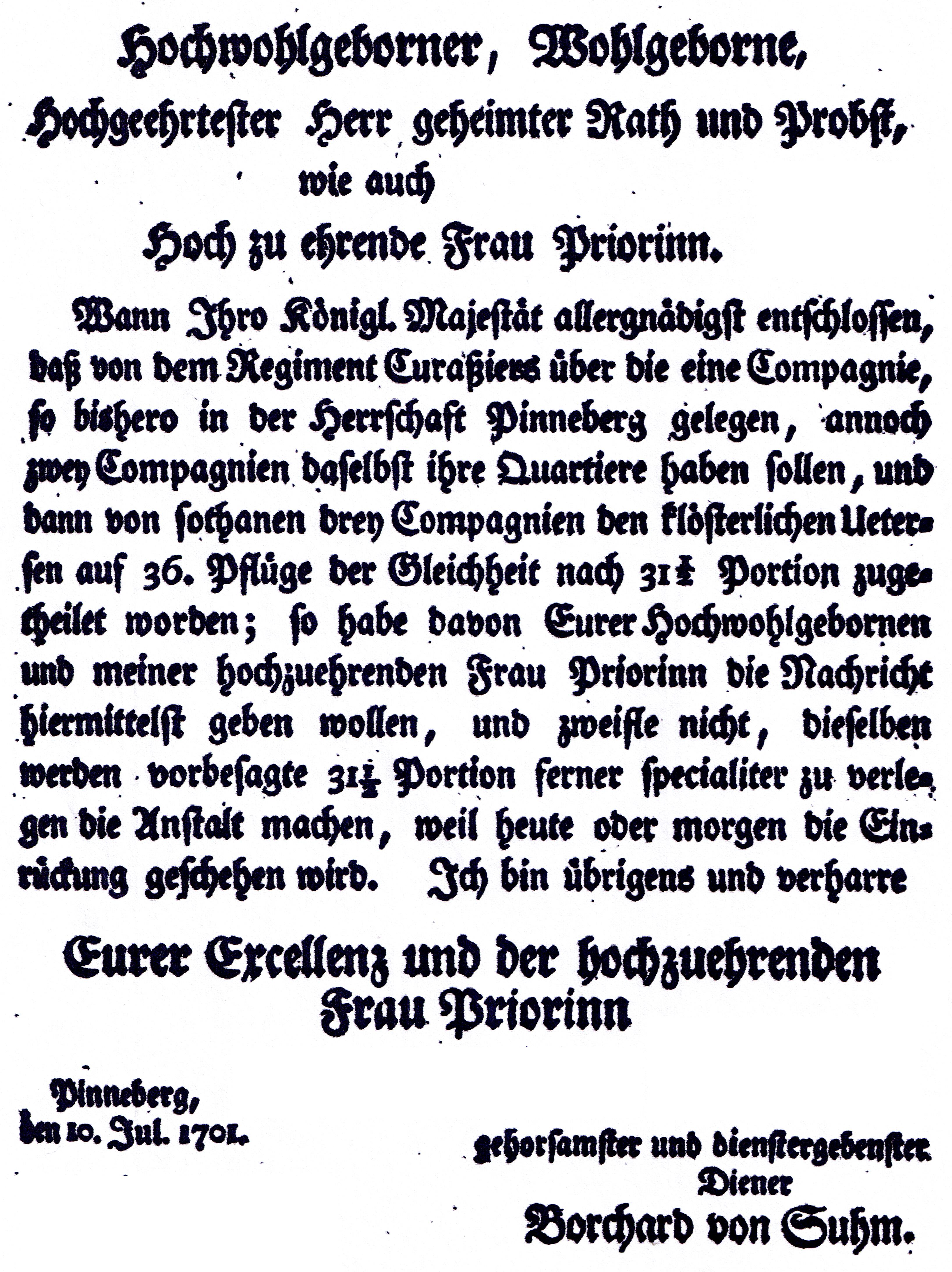 File:Brief vom Amtmann Borchart von Suhm an das Kloster Uetersen ...