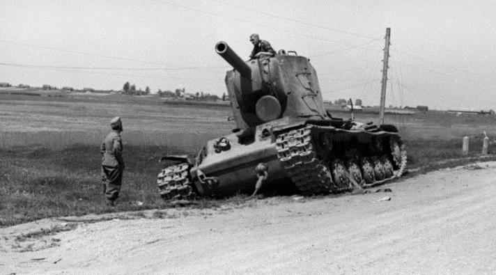 A destroyed KV-2