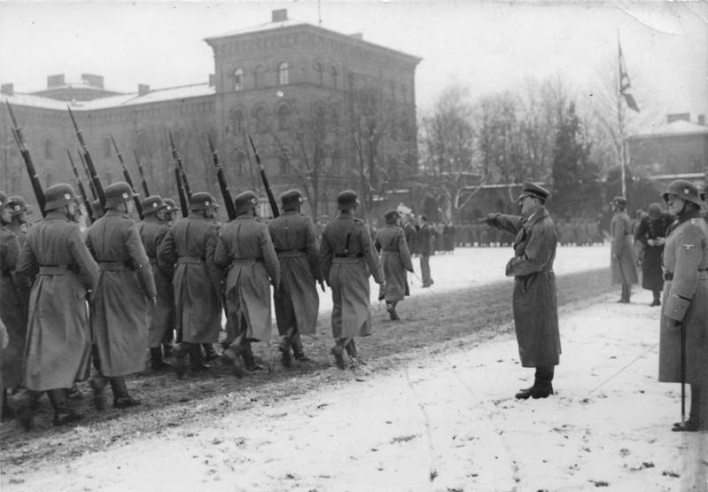 "Hitler inspecting the ""Leibstandarte"" at Lichterfelde"