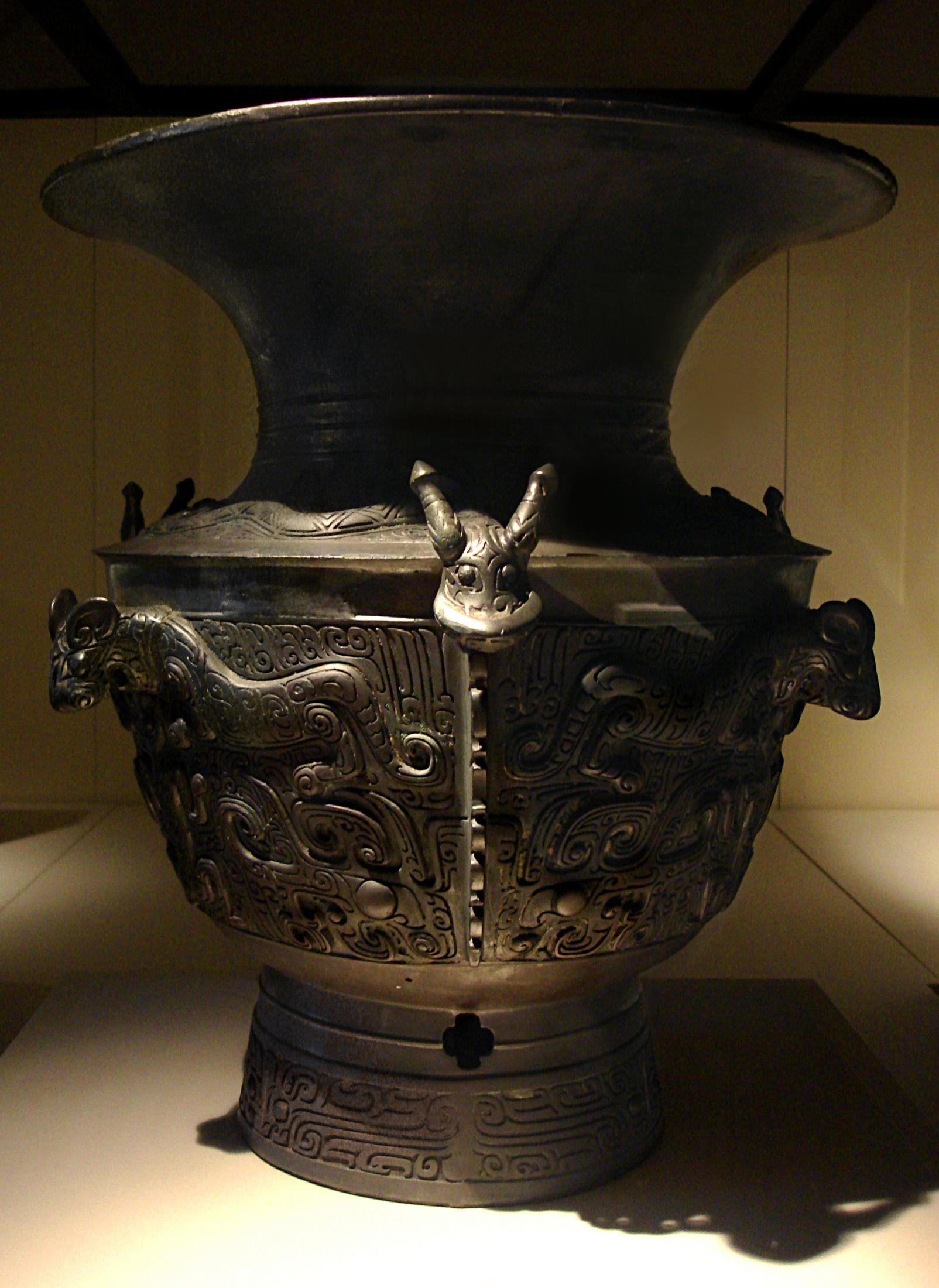Bronze Zun (wine storeage vessel)