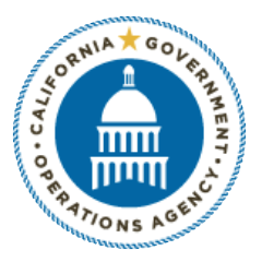California Government Operations Agency Seal on teachers resources