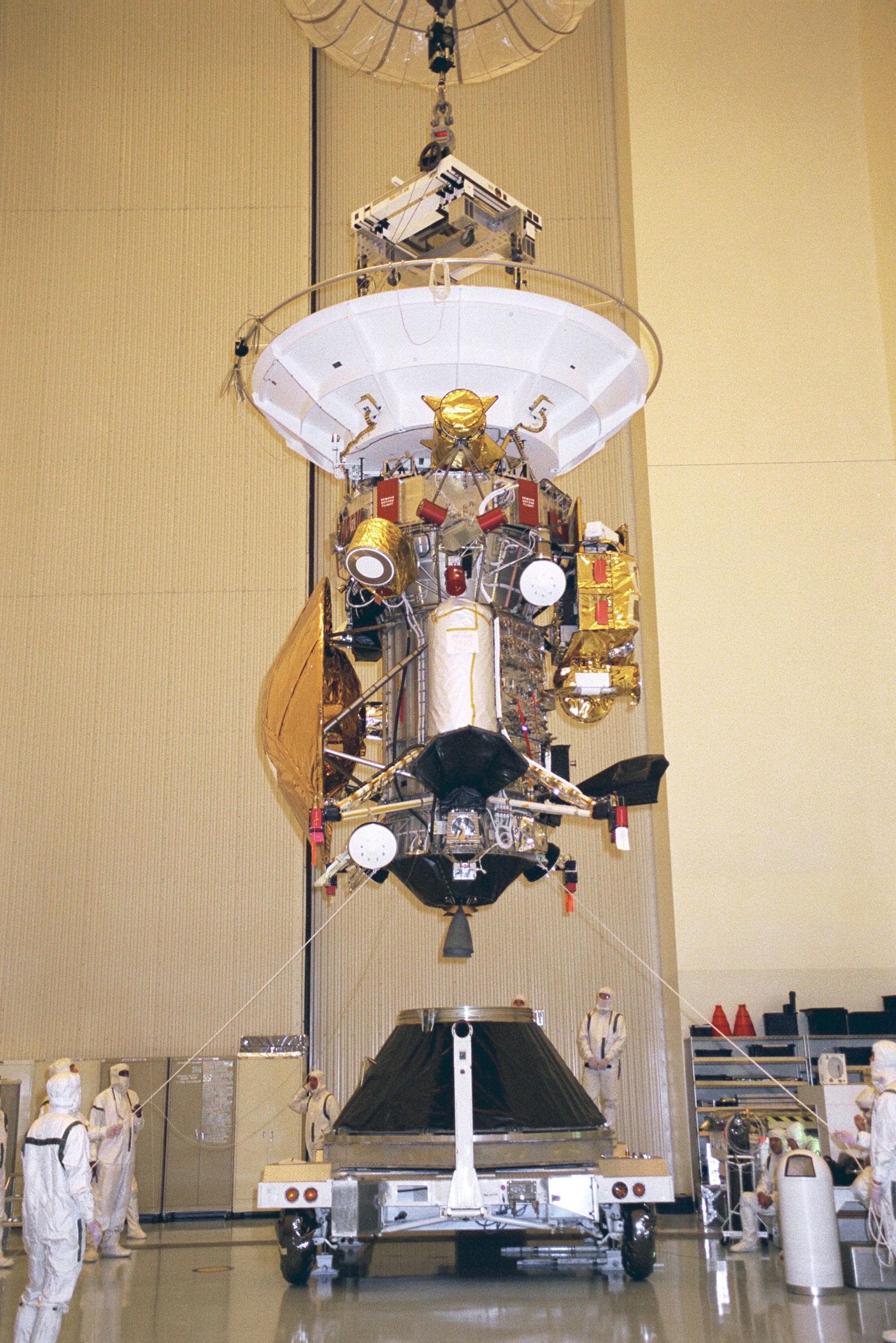 File:Cassini-Huygens is installed to the payload adapter ...