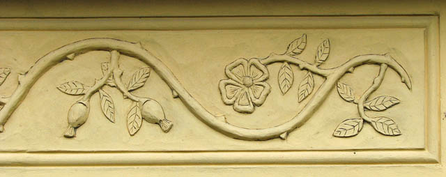File:Decorative floral molding on barn wall (detail) - geograph.org ...
