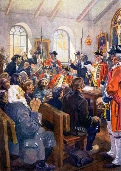 Événement historique de l'Acadie
