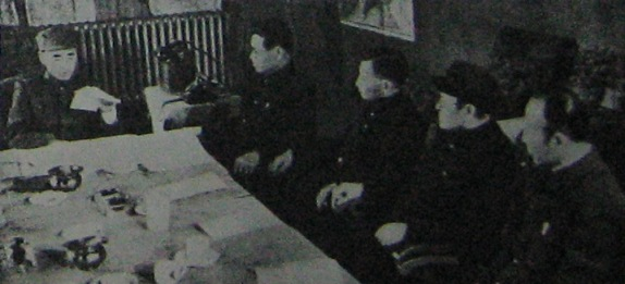 Lin with high ranking officers under his command (Harbin, 1946)