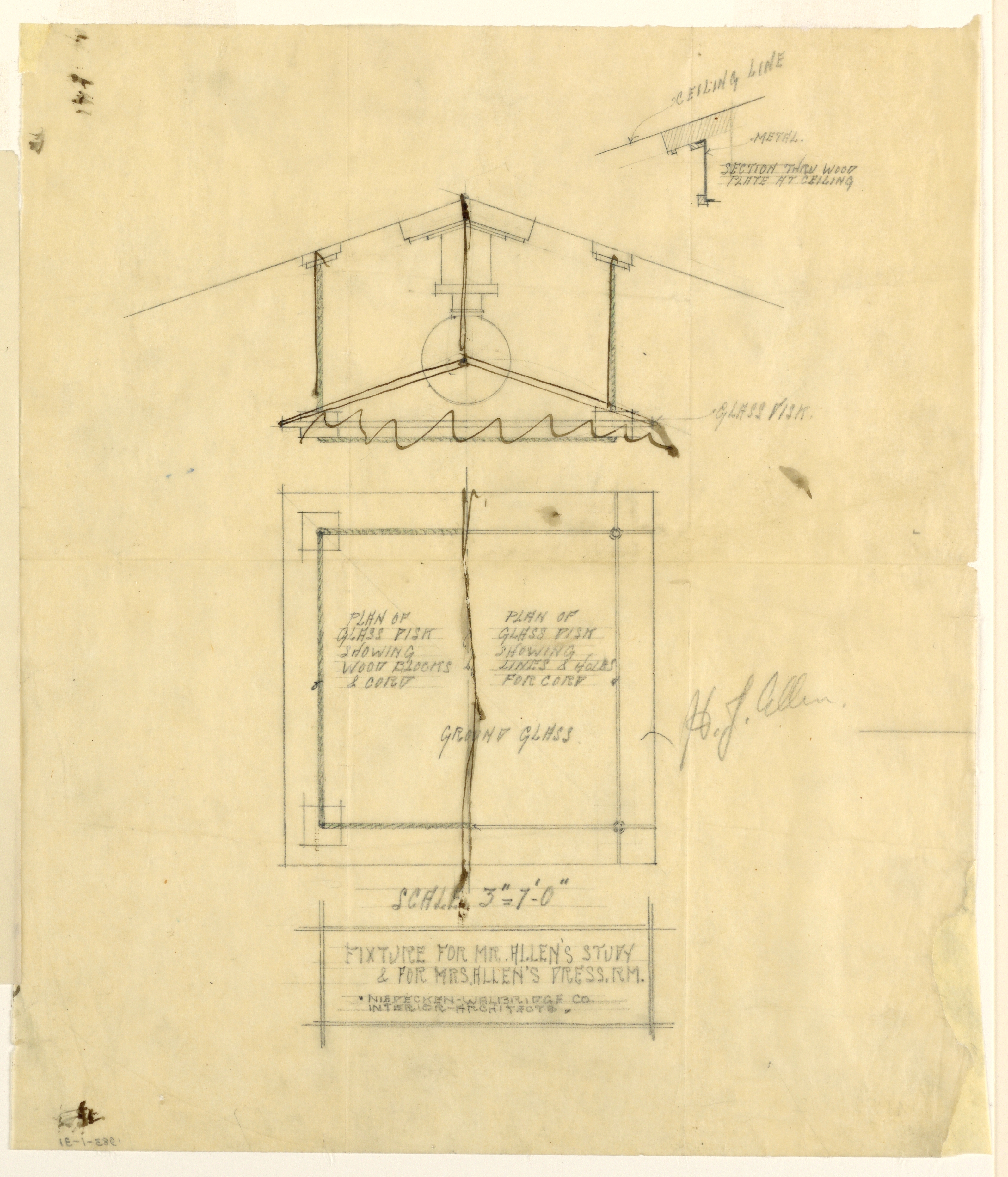 FileDrawing Light Fixture And Plan Of Glass Disc For Mr Allens Study