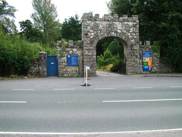 Entrance to Muncaster Castle - geograph.org.uk - 1493898