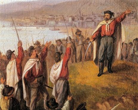 Garibaldi landet auf Sizilien
