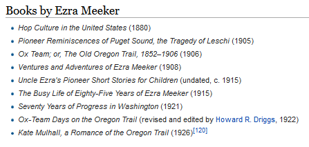 Ezra Meeker bibliography before OCLC.png