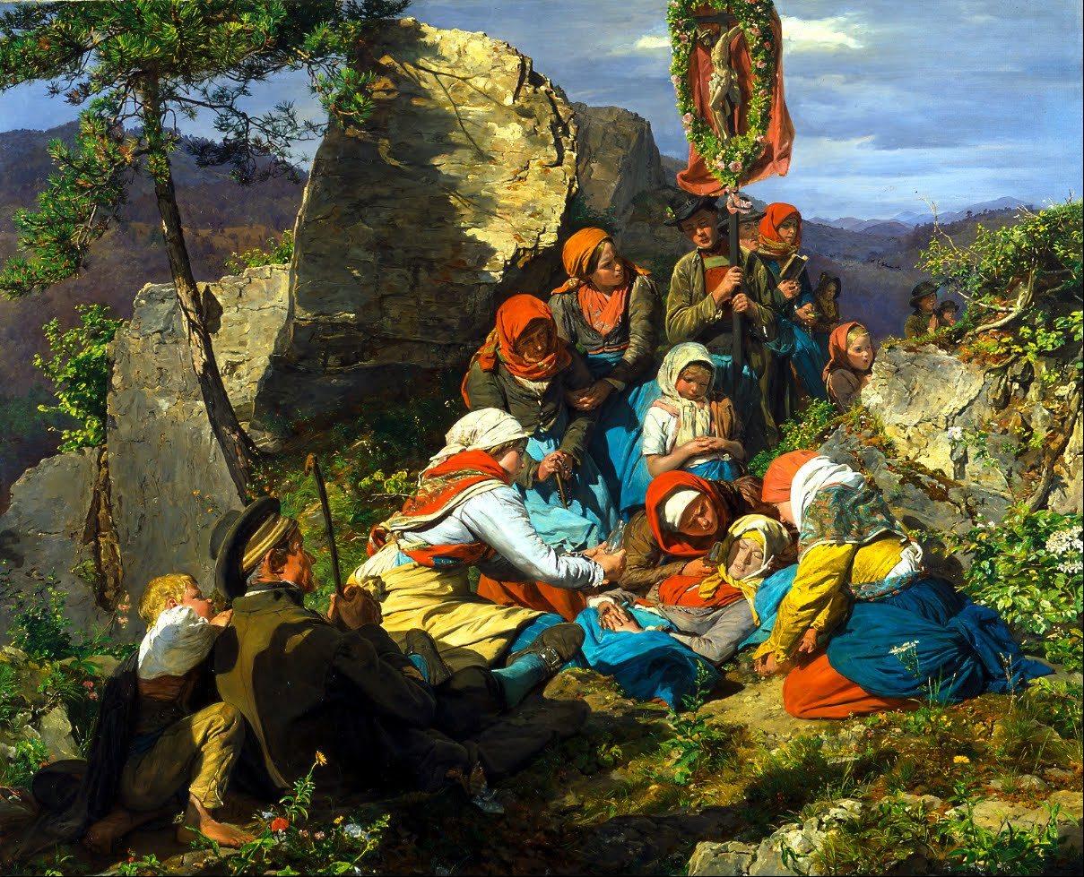 The Interrupted Pilgrimage (The Sick Pilgrim), by Ferdinand Georg Waldmüller