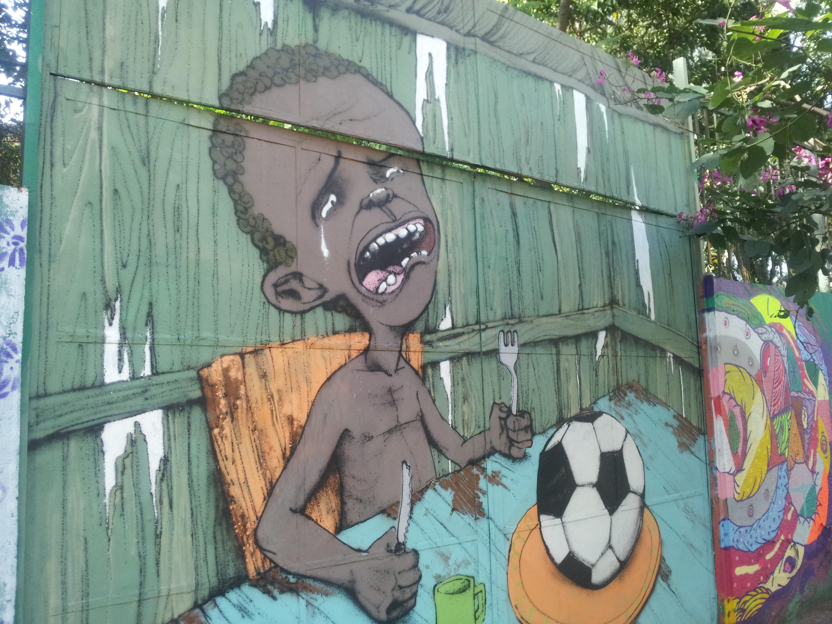 Grafite em um muro de São Paulo. Obra do artista Paulo Ito.