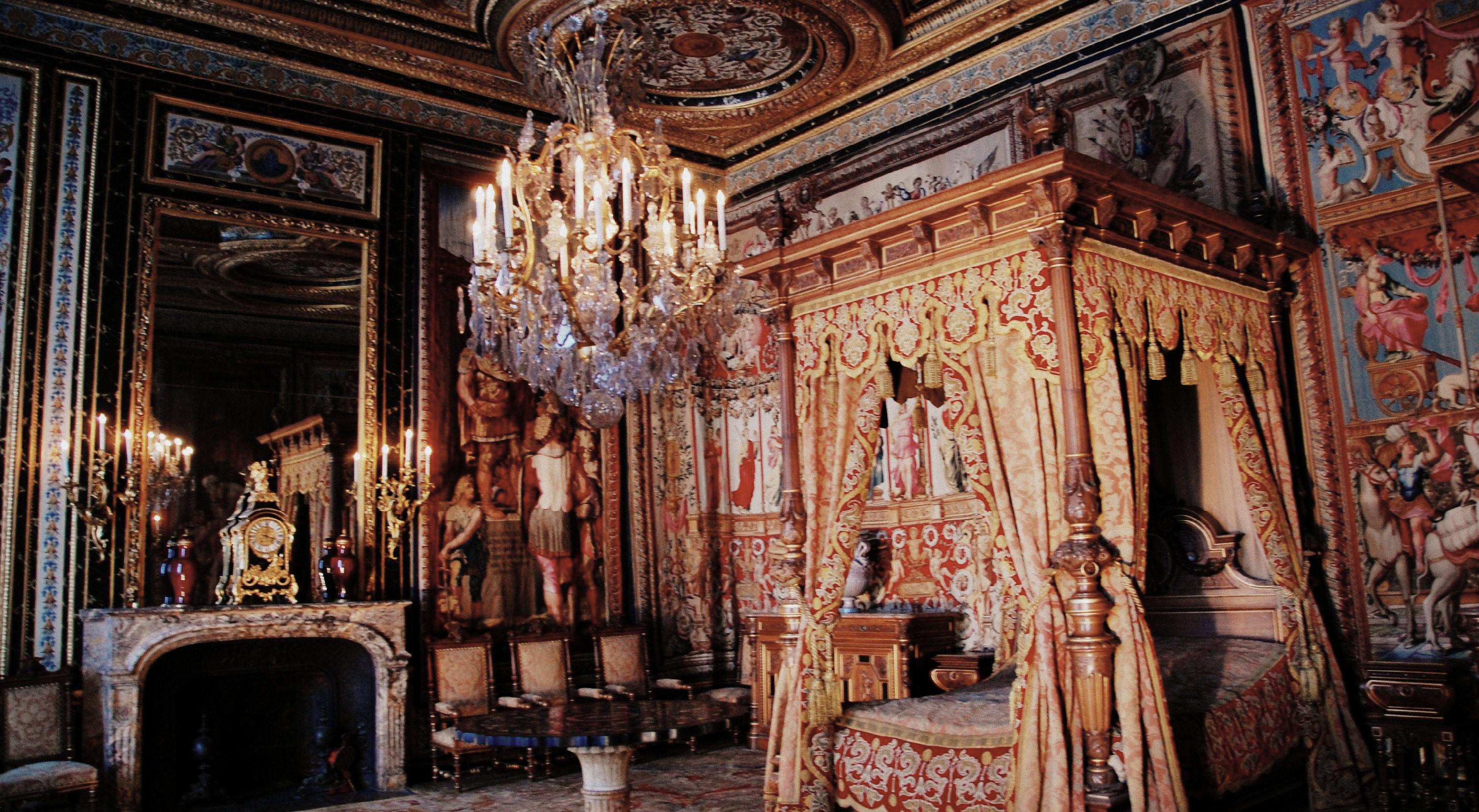 File fontainebleau chambre des reines m res - Letto versailles ...