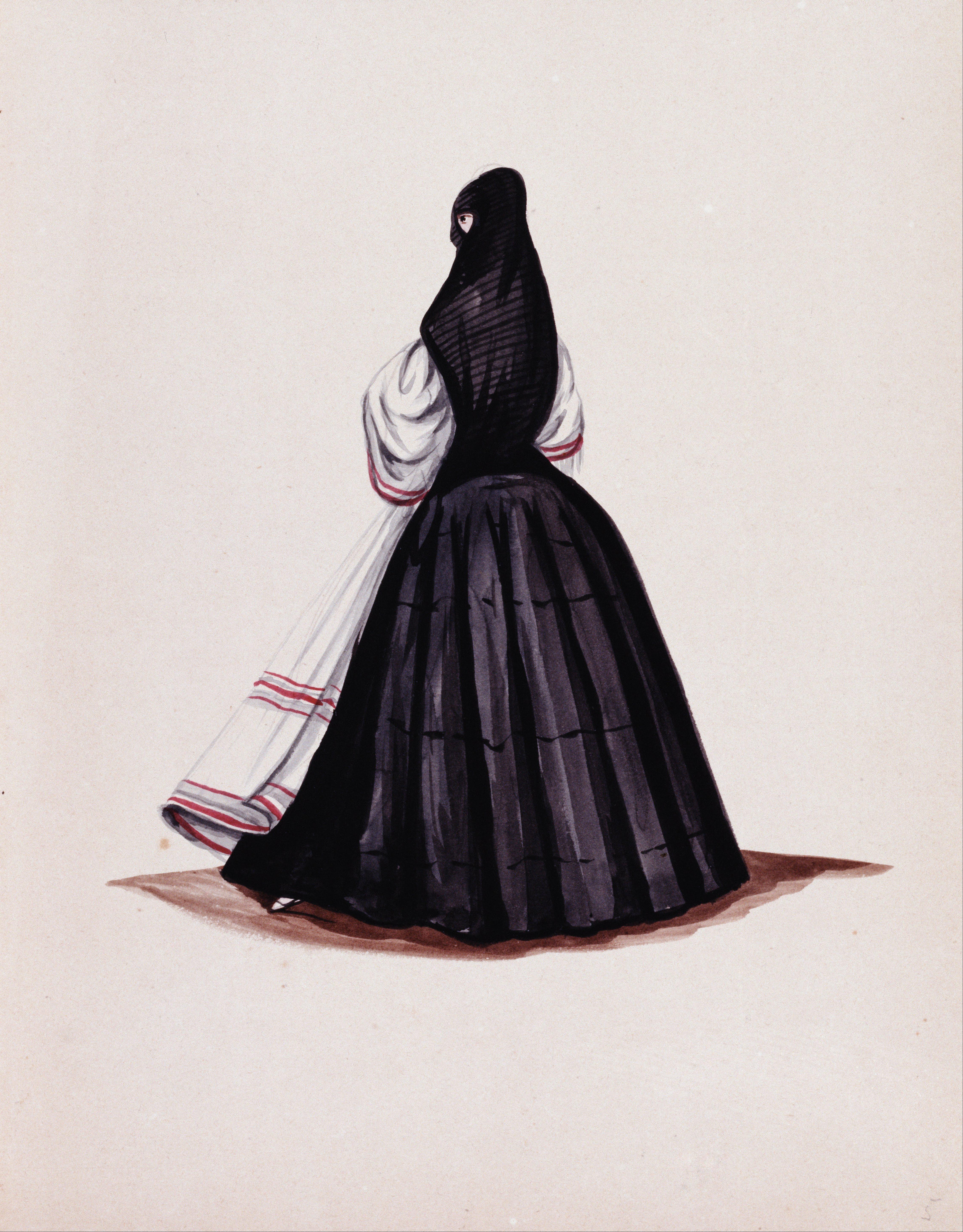 Archivo:Francisco Fierro - Tapada limeña - Google Art Project.jpg -  Wikipedia, la enciclopedia libre
