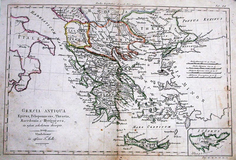 image relating to Printable Map of Ancient Greece identify Record:Graecia Antiqua Map of Historic Greece 1809.jpg
