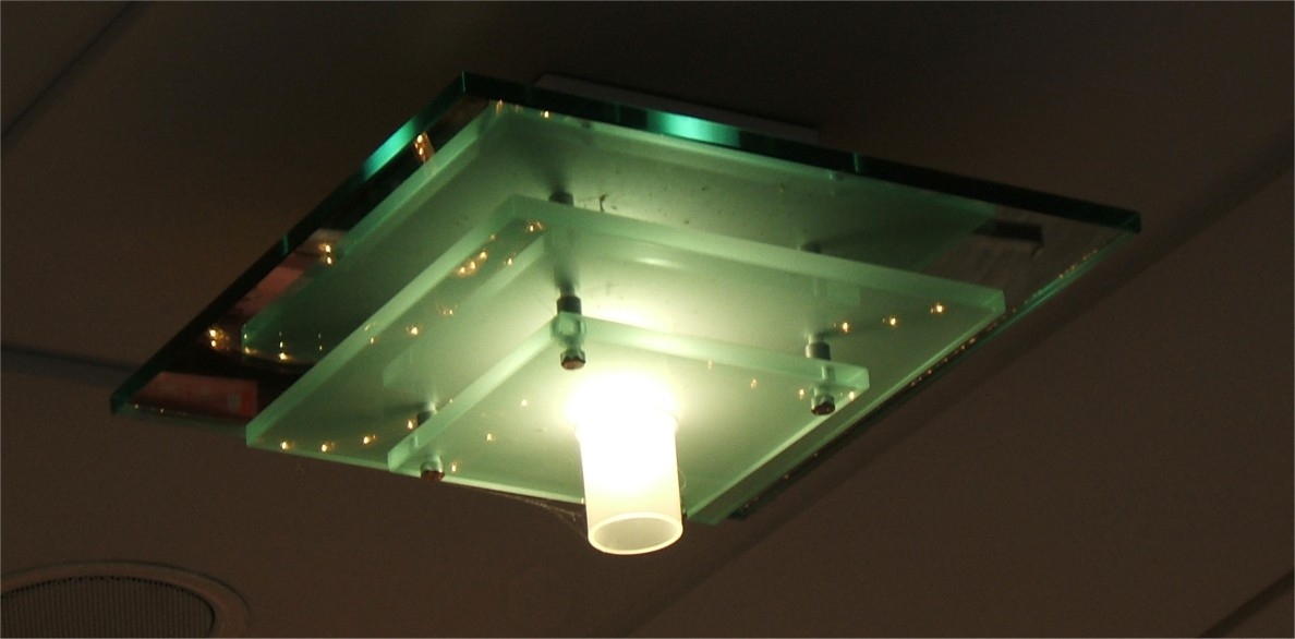 Common soda-lime float glass appears green in thick sections because of Fe2+ impurities.