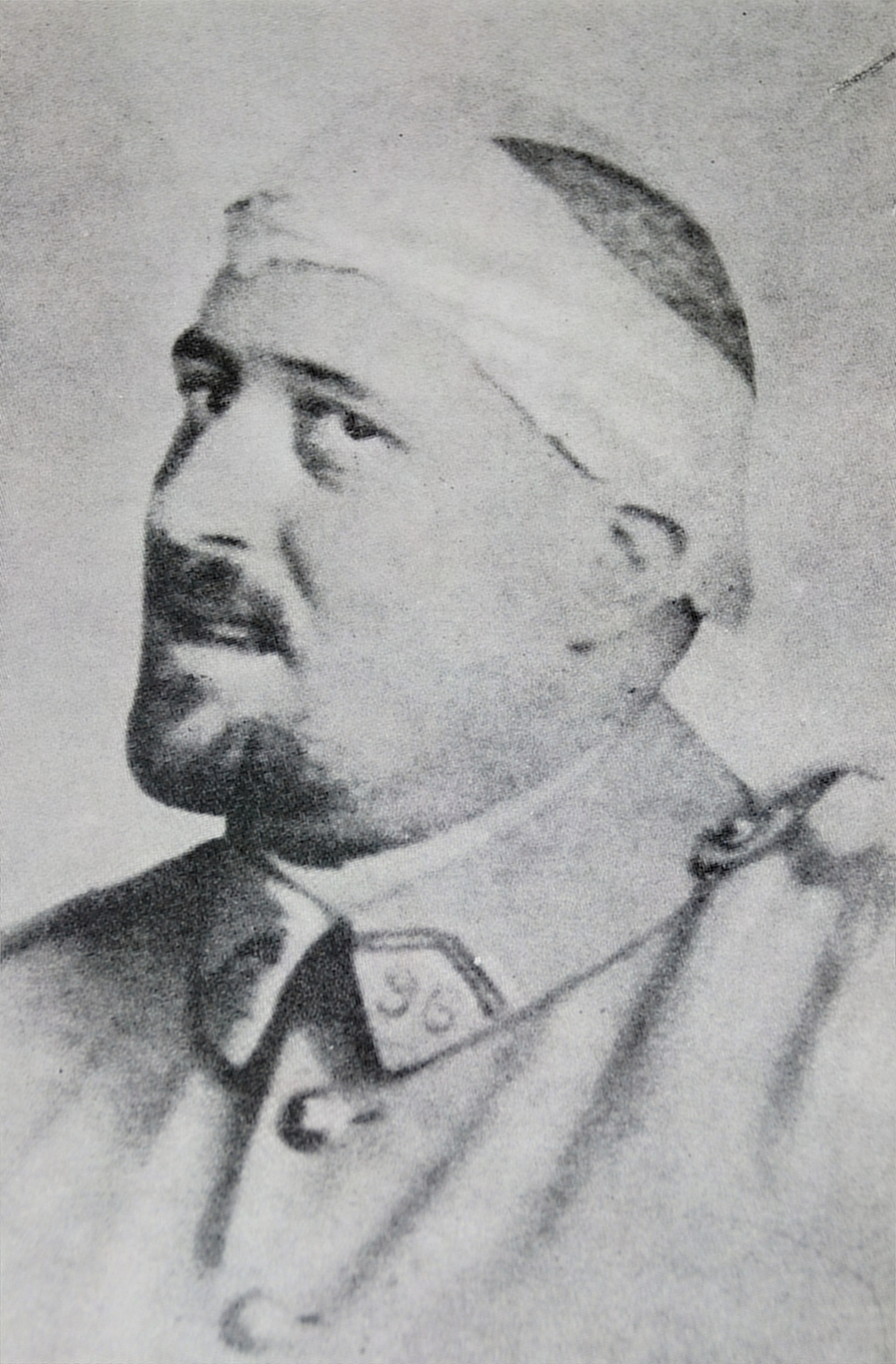 Photograph of Guillaume Apollinaire in spring 1916 after his shrapnel wound to the temple