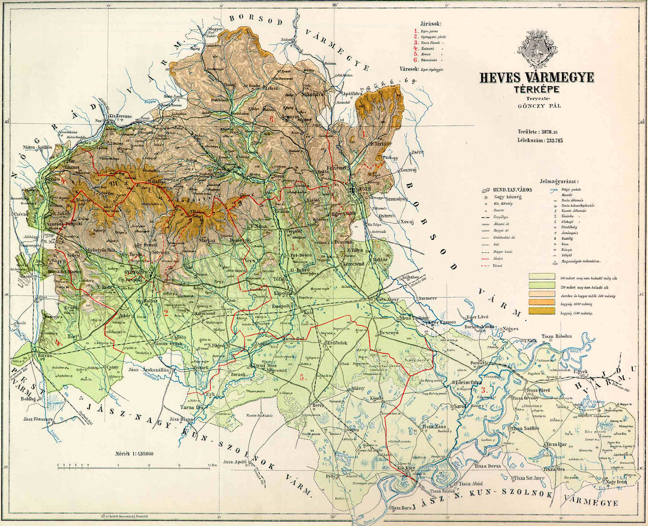 Fajl Heves County Map 1891 Jpg Wikipedia