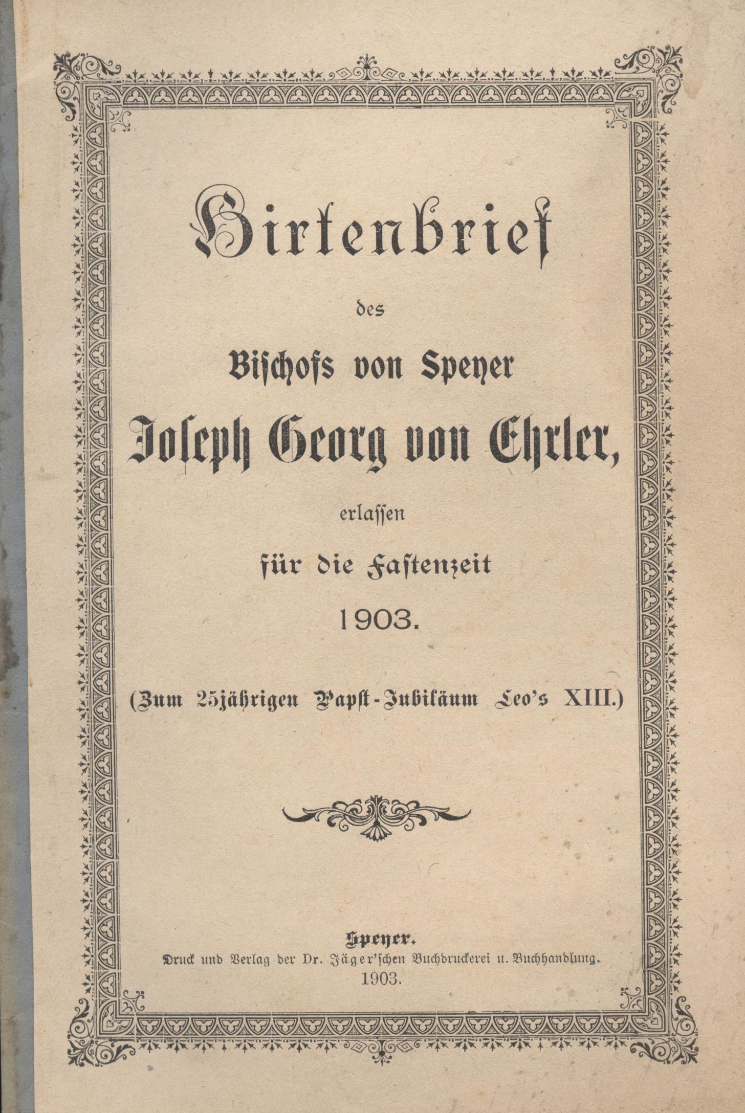 Dateihirtenbrief Jäger Verlag Speyer Jsjpg Wikipedia