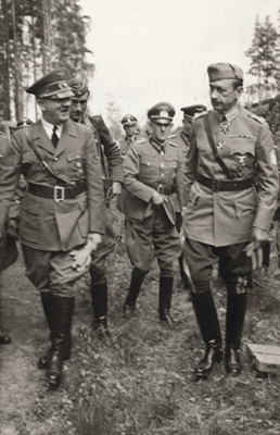 Hitler and Finnish commander-in-chief Field Marshal Mannerheim (right) Hitler Mannerheim 2.jpg