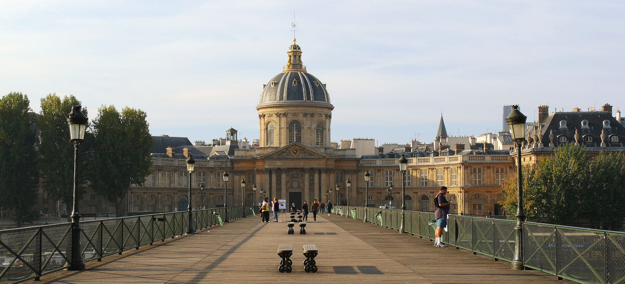 The Institut de France viewed from the [[Pont des Arts]]