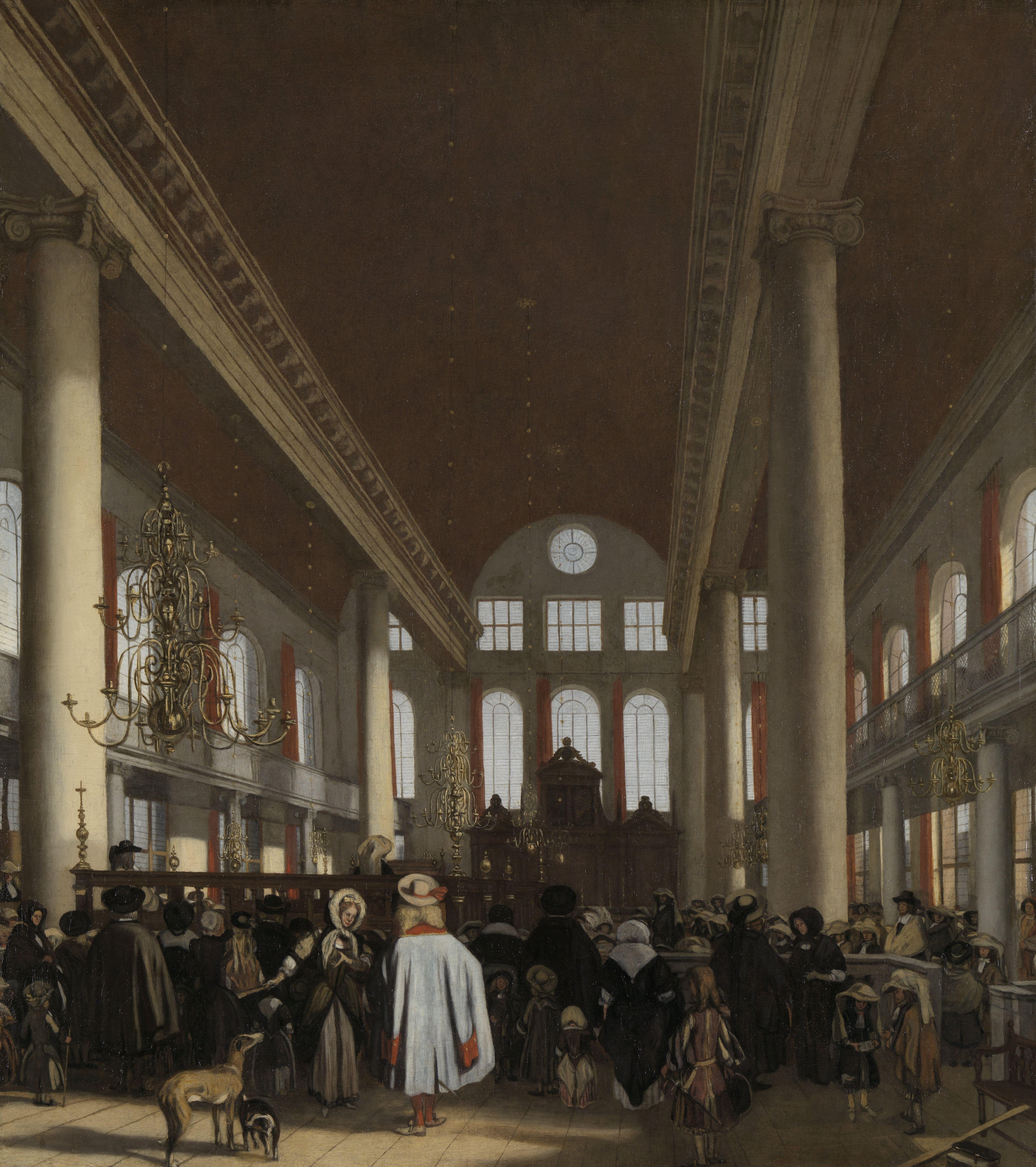 File interieur van de portugese synagoge te amsterdam for Interieur stage amsterdam
