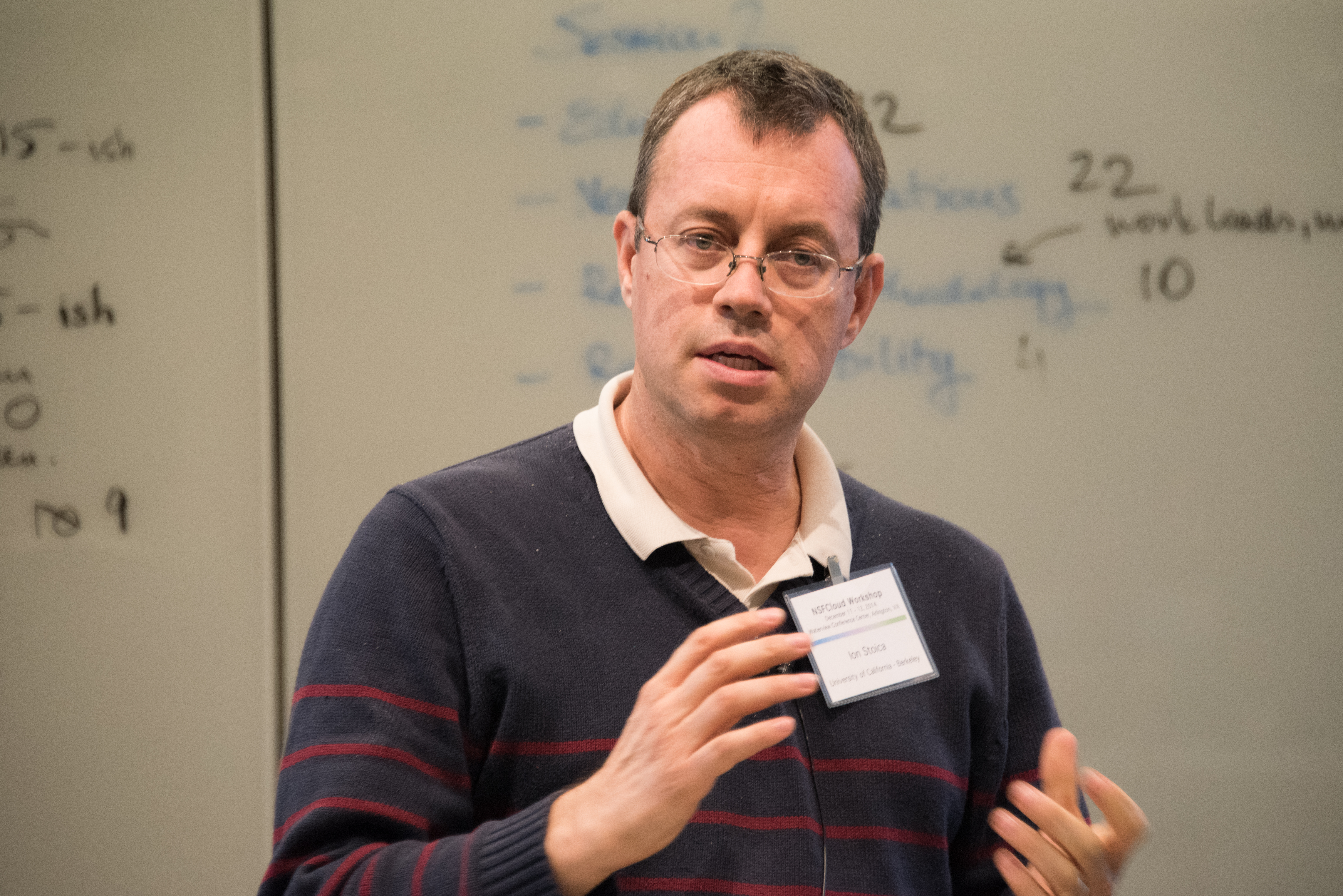 Ion Stoica speaking at a [[National Science Foundation]] workshop on cloud computing in 2014