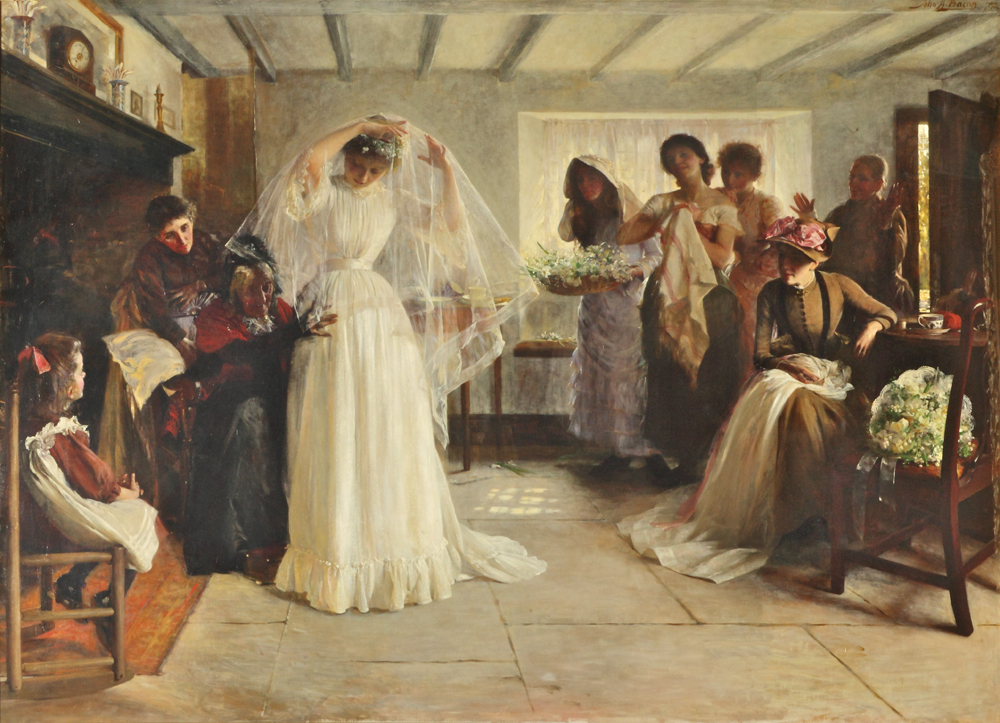John Henry Frederick Bacon - The wedding morning. Wikimedia out of copyright