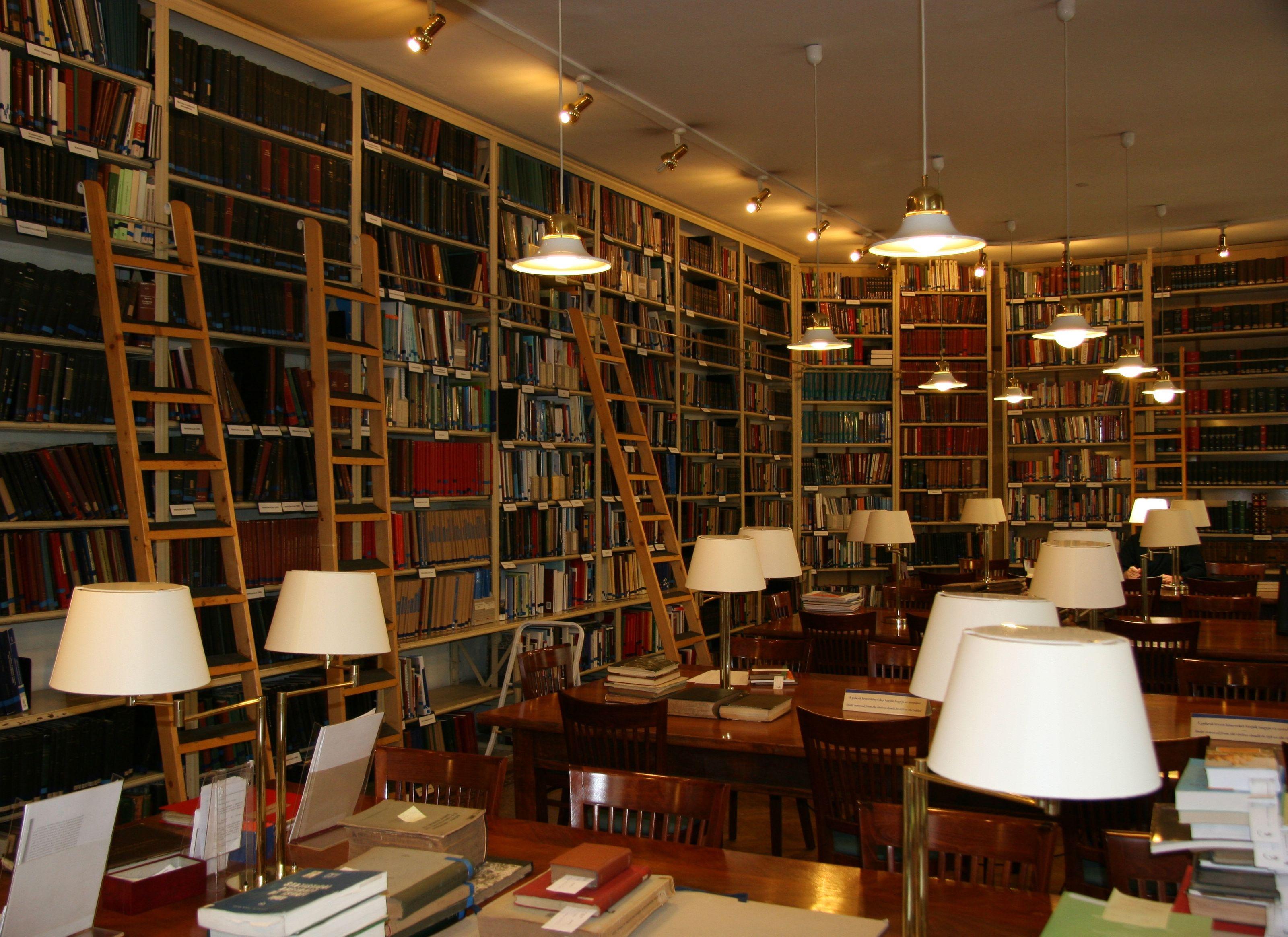 A könyvtárról.