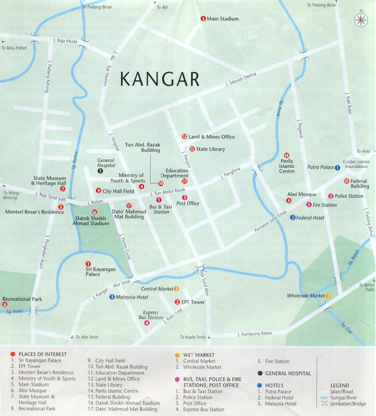 Peta Bandar Kangar