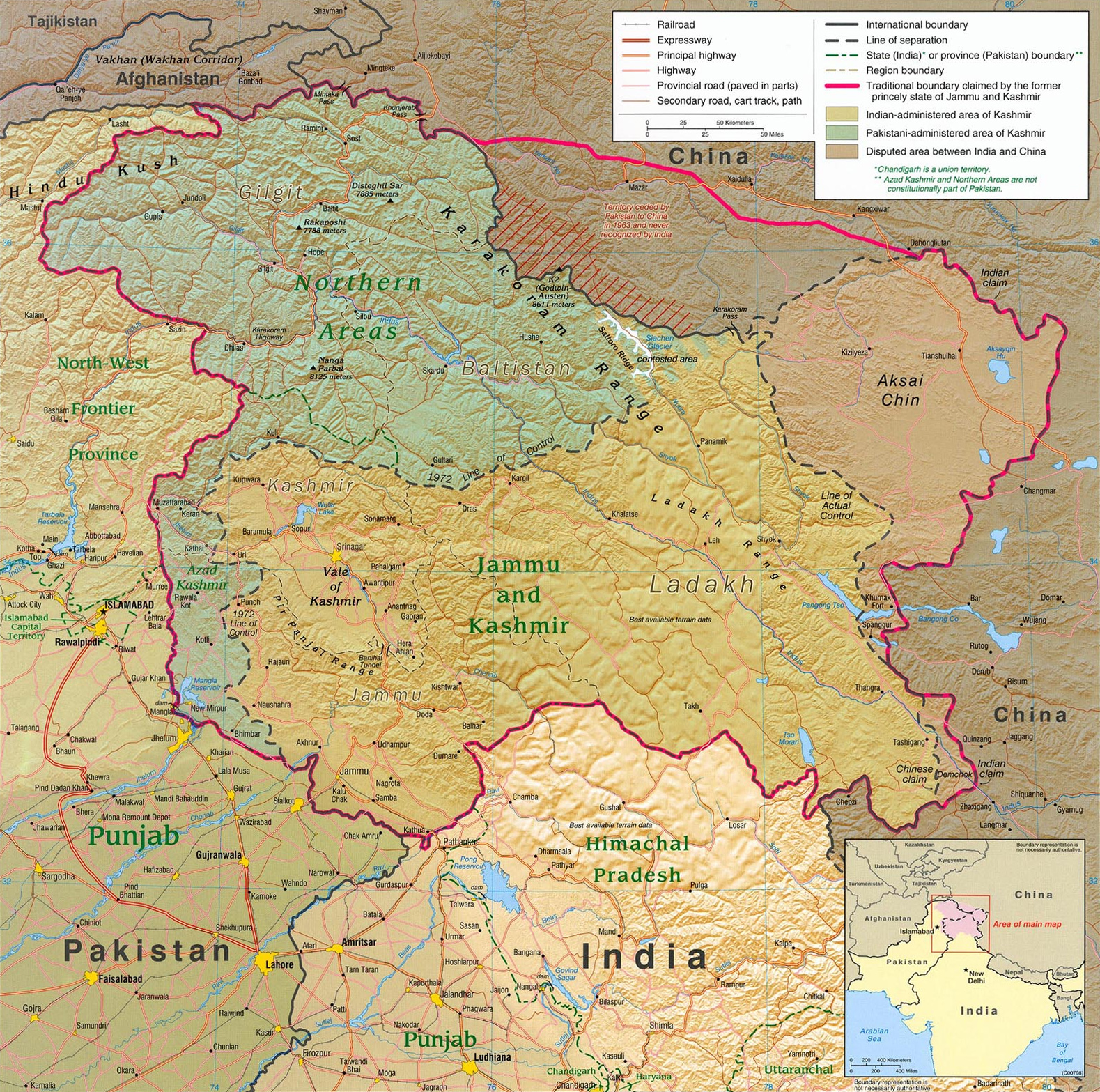 District Jammu Kashmir Map Map of Jammu And Kashmir