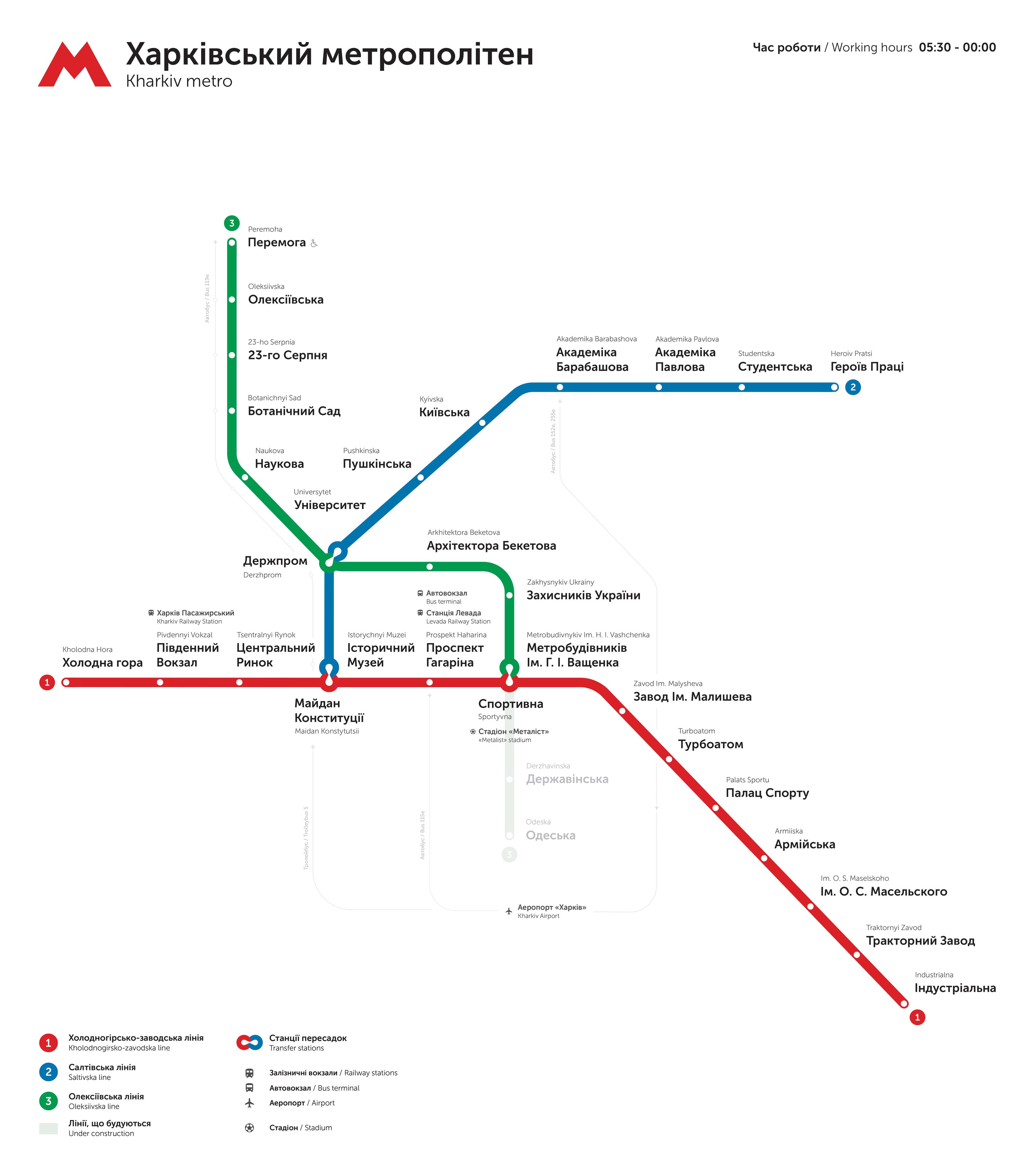 English map prague subway in Prague metro